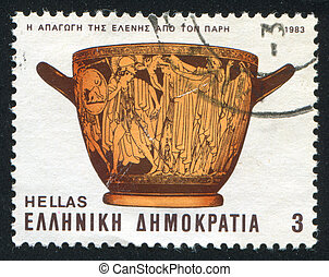 Troy - GREECE - CIRCA 1983: stamp printed by Greece, shows...