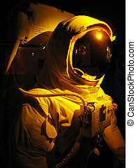 space man - A complete astronaut setup under dramatic...