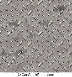 metal diamond plate - Diamond plate metal texture - a very...