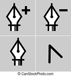 Drawing Tool Icon Set - An image of a drawing tool icon set.