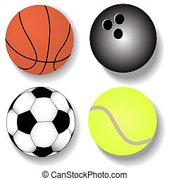 kit atheletic ball basketball football tennis - illustration...