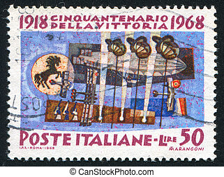 Air Force - ITALY - CIRCA 1968: stamp printed by Italy,...