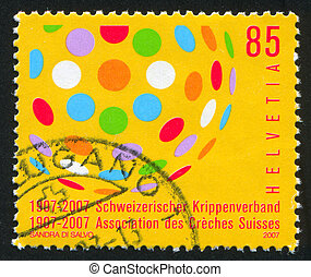 Day Care Centers - SWITZERLAND - CIRCA 2007: stamp printed...