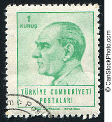 Kemal Ataturk - TURKEY - CIRCA 1965: stamp printed by...