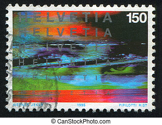 abstraction - SWITZERLAND - CIRCA 1995: stamp printed by...