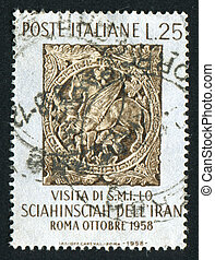 Sorrento - ITALY - CIRCA 1958: stamp printed by Italy, shows...