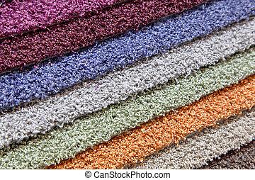 muestras, alfombras, Tienda