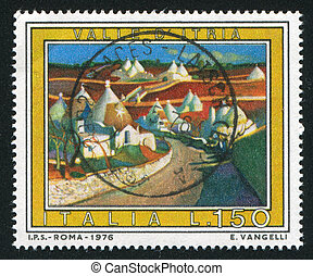 Valle - ITAIY- CIRCA 1976: stamp printed by Italy, shows...