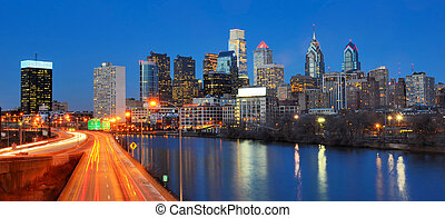 Philadelphia Center City - Downtown Skyline of Philadelphia,...