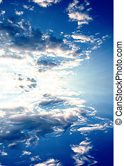 sky and reflection on water - a photomanipulation of a...