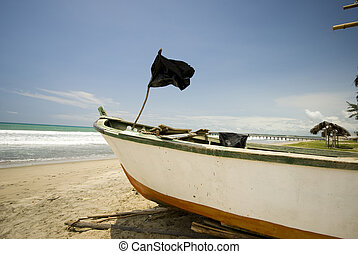 fishing boat on ruta del sol ecuador - fishing boat pacific...