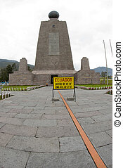 east equator line mitad del mundo middle of the world quito...