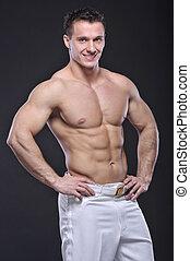 Good looking  bodybuilder