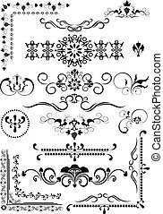 Decorative border brnament - Beautiful border and corner of...