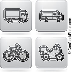 Industry Icons: Transportations - Industry & Heavy industry...