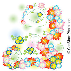 bright spring flowers in a composit