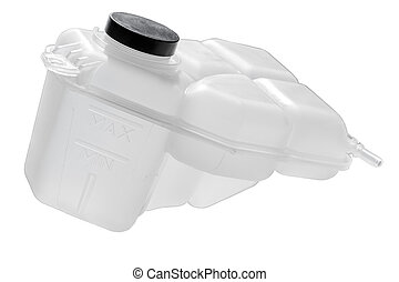 washer fluid reservoir with black cap - this tank stores...
