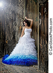 穿, 婦女, 衣服, 年輕, 婚禮