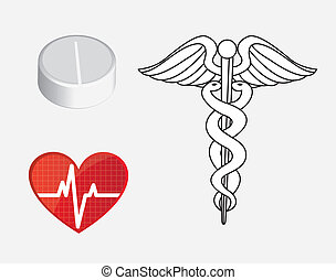 Medicine - symbols of medicine and health