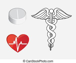 Medicine - symbols of medicine and health