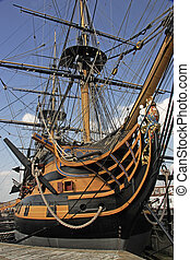 HMS Victory was Nelsons flagship at the battle of Trafalgar...