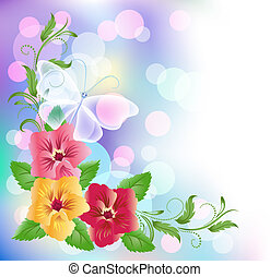 Floral background with boke