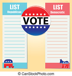 Democratic and Republican Party - List of preferences...
