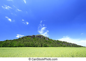 Landscape in Saxony, Germany - Landscape in the Elbe...