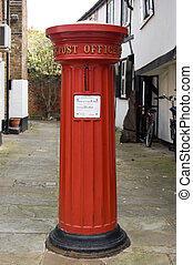 Historic Post Box - ETON, BERKSHIRE, ENGLAND - MAY 12:...