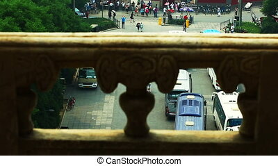 View of Drum tower from Bell tower - View of Drum tower