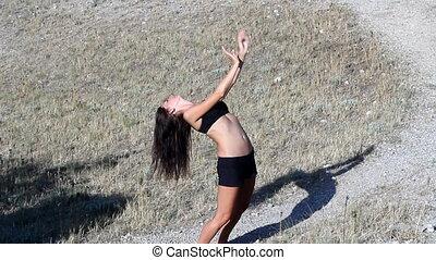 Girl, dance, shadow