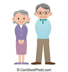 Personnes Agées, couple