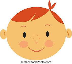 Illustration of a boy with red hair