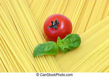 Healthy Spaghetti - Close up from spaghetti. Shot in Studio