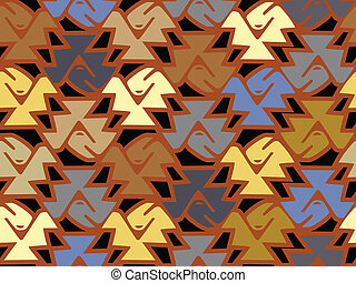 A pattern of jaggered shape and muted color