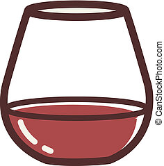 Illustration of a stemless goblet