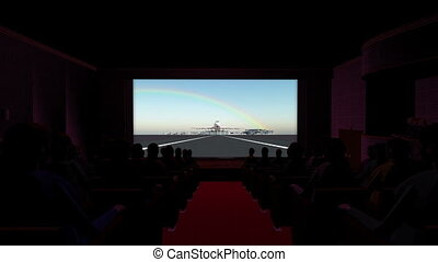 Theater Commercial Jet Movie - image of theater