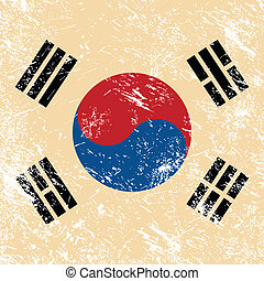 South Korea retro flag