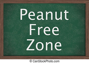 Schools that are peanut free - Chalkboard words Peanut Free...