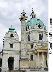 Karlskirche In Vienna - St Charless Church Karlskirche in...