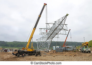Installing the support of high voltage
