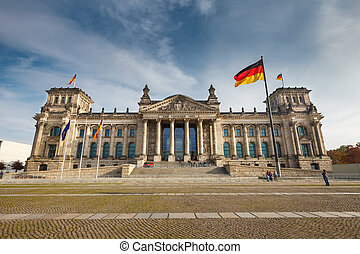 Reichstag in Berlin - View on Reichstag in Berlin
