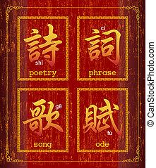 Poetry  - Chinese character symbol about Poetry