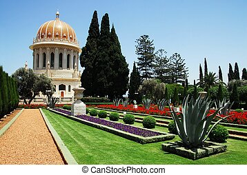 Travel Photos of Israel - Bahai Shrines in Haifa - The Bahai...