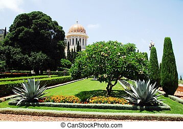 Travel Photos of Israel - Bahai Shr - The Bahai Temple and...
