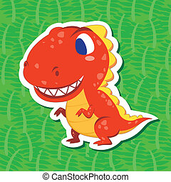 cute dinosaur sticker01 - a cute dinosaur sticker with...