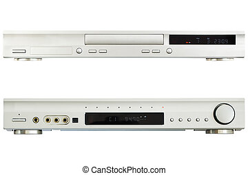 DVD Player AV Receiver on a white background
