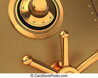 Golden safe