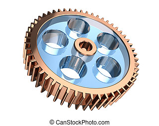 Gears - Modern gear isolated on a white background