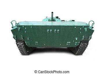 Military vehicle on tracks